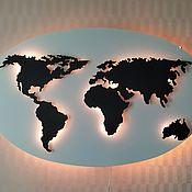 World maps handmade. Livemaster - original item Panels: World Map. Handmade.