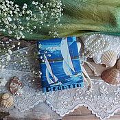 Канцелярские товары ручной работы. Ярмарка Мастеров - ручная работа Блокнотики морские 3 шт. Handmade.