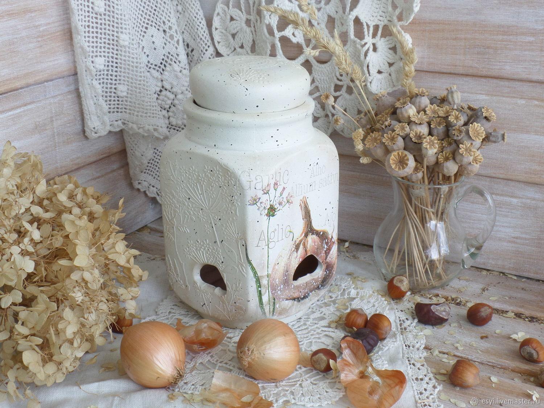 Банка-горшок для лука и чеснока, орехов, Банки, Москва,  Фото №1