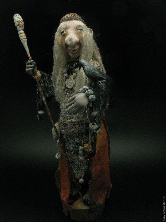 Коллекционные куклы ручной работы. Ярмарка Мастеров - ручная работа. Купить Троллиха-ведунья. Handmade. Тролли, авторская кукла
