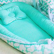 Текстиль ручной работы. Ярмарка Мастеров - ручная работа Кокон гнездышко для новарожденных двухсторонний. Handmade.