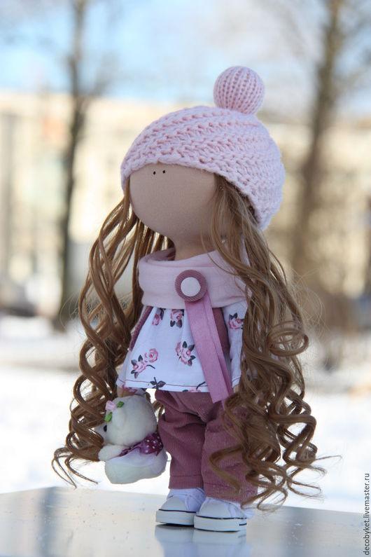 Коллекционные куклы ручной работы. Ярмарка Мастеров - ручная работа. Купить Кукла Интерьерная Текстильная. Handmade. Розовый, кукла интерьерная
