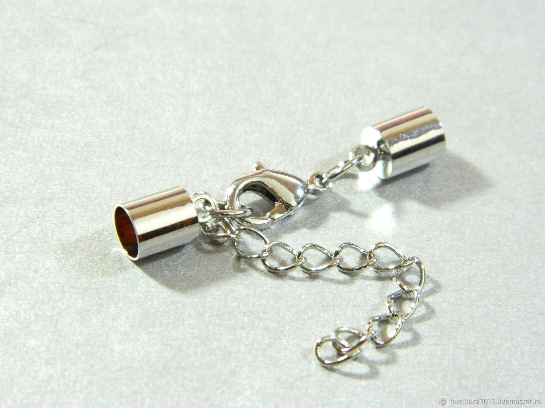 Концевик для шнура 5 мм внутренний диаметр. шт, Фурнитура для украшений, Саратов,  Фото №1