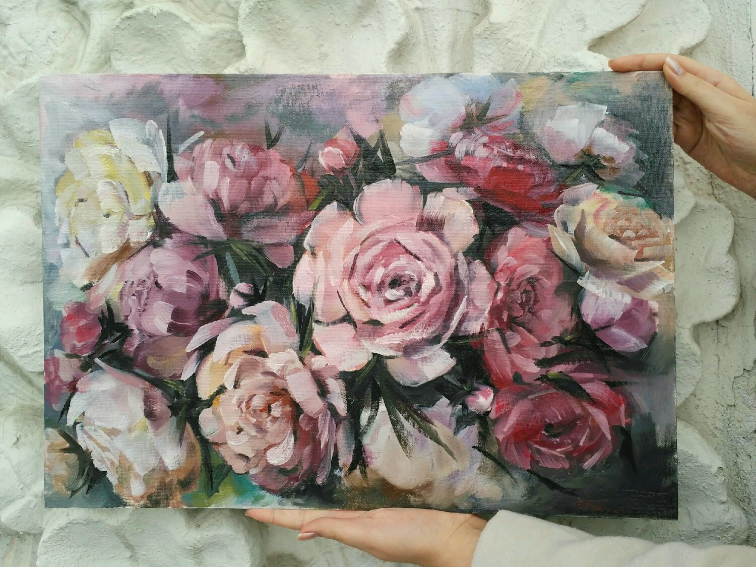 Flower Paintings Handmade Livemaster The Author S Oil Painting Peonies