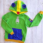 Одежда детская handmade. Livemaster - original item Custom-made Leon Brawl Stars sweatshirt, Leon Bravo stars Chameleon sweatshirt. Handmade.