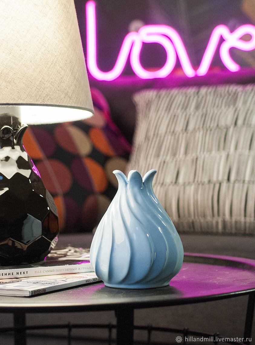 Vases handmade. Livemaster - handmade. Buy Copy of Vases 'Zefir White M' ceramics.Ceramics, porcelain, cutting