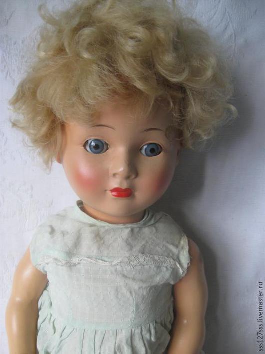 Винтажные куклы и игрушки. Ярмарка Мастеров - ручная работа. Купить Антикварная кукла выс. 60 см (115-2). Handmade.
