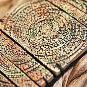 Украшения ручной работы. Ярмарка Мастеров - ручная работа широкий браслет из полимерной глины Медная радуга. Handmade.