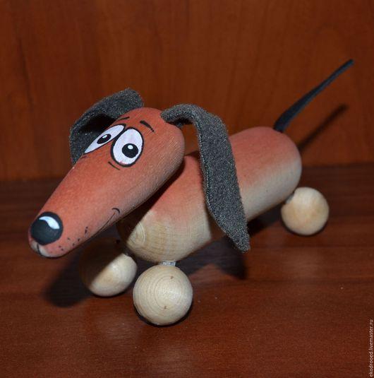 Игрушки животные, ручной работы. Ярмарка Мастеров - ручная работа. Купить такса собачка деревянная. Handmade. Комбинированный, сувенир