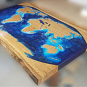 Столы ручной работы. Ярмарка Мастеров - ручная работа Стол река. Стол карта. Стол лофт.. Handmade.
