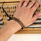 Украшения ручной работы. Ярмарка Мастеров - ручная работа Кожаный браслет с гравировкой на заказ. Handmade.