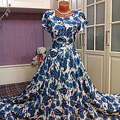 Одежда ручной работы. Ярмарка Мастеров - ручная работа Штапельное платье в пол Пейсли. Handmade.