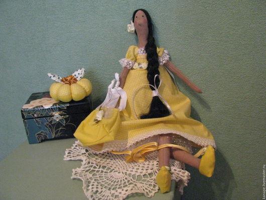 Куклы Тильды ручной работы. Ярмарка Мастеров - ручная работа. Купить Тильда Весна. Handmade. Желтый, подарок на день рождения
