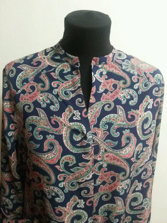 Блузка рубашка. Блузка из штапеля. Блуза из натуральной ткани, Блузки, Орехово-Зуево, Фото №1