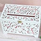 Свадебный салон handmade. Livemaster - original item Money chest with initials (family bank, treasury)). Handmade.