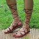 Обувь ручной работы. Ярмарка Мастеров - ручная работа. Купить NEW!  Босоножки гладиаторы из кожи рыжие. Handmade. Гладиаторы, сандалии