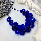 Украшения handmade. Livemaster - original item Necklace Color cobalt from wydown in the style of minimalism. Classic .Lampwork. Handmade.