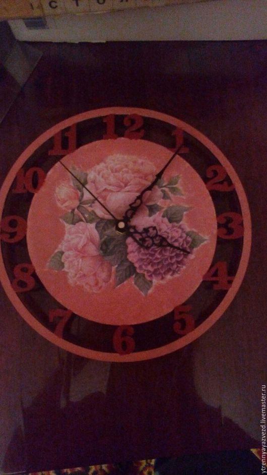 Часы для дома ручной работы. Ярмарка Мастеров - ручная работа. Купить настенные часы. Handmade. Настенные часы, Декупаж