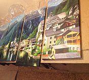 """Картины и панно ручной работы. Ярмарка Мастеров - ручная работа Модульная картина """"на озере"""". Handmade."""