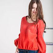 """Одежда ручной работы. Ярмарка Мастеров - ручная работа Валяный пуловер """"Коралл"""". Handmade."""