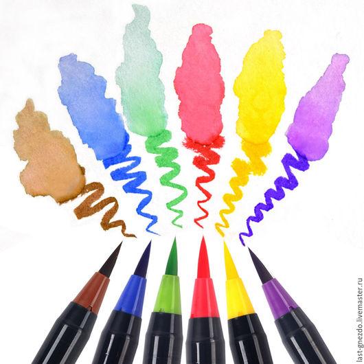 Другие виды рукоделия ручной работы. Ярмарка Мастеров - ручная работа. Купить Акварельные маркеры, перо-кисть, 20 шт. Handmade.