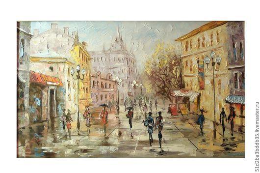 Город ручной работы. Ярмарка Мастеров - ручная работа. Купить АРБАТ. Handmade. Картина, картина в подарок, картина для интерьера