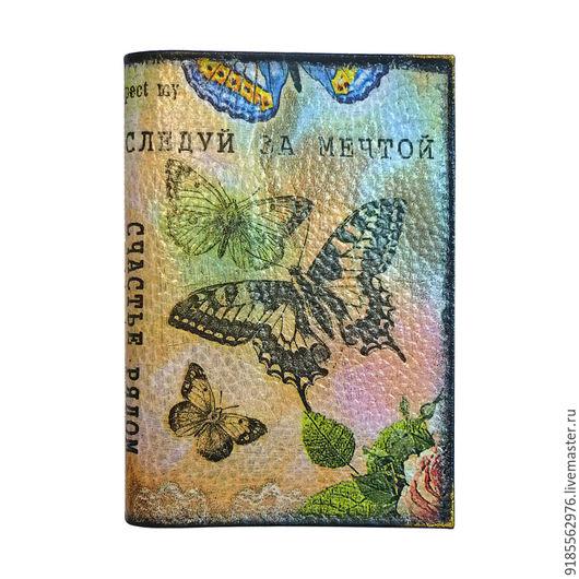 Обложки ручной работы. Ярмарка Мастеров - ручная работа. Купить Обложка на паспорт Бабочки к 8 Марта. Handmade. Комбинированный, надписи