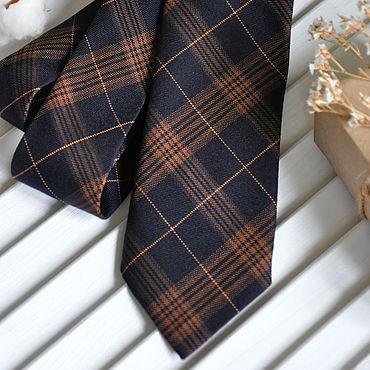 Аксессуары ручной работы. Ярмарка Мастеров - ручная работа Галстук мужской Шотландская клетка / галстук Классика. Handmade.