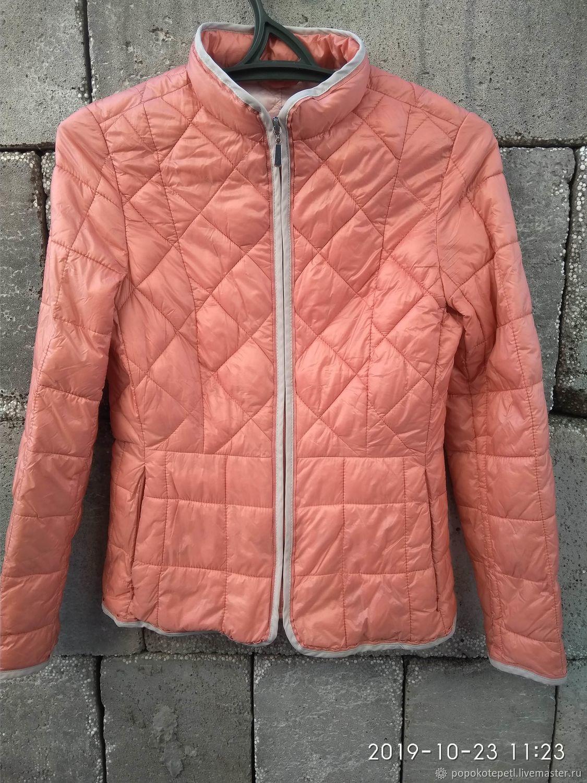 Quilted jacket, nylon, vintage China, Vintage clothing, Novorossiysk,  Фото №1