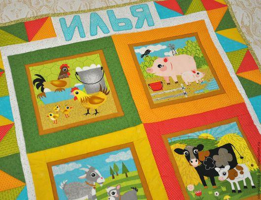 Пледы и одеяла ручной работы. Ярмарка Мастеров - ручная работа. Купить Детское лоскутное одеяло. Лоскутное покрывало для детской комнаты. Handmade.