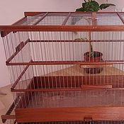 Для домашних животных, ручной работы. Ярмарка Мастеров - ручная работа Клетка из красного дерева. Handmade.
