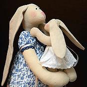 Куклы и игрушки ручной работы. Ярмарка Мастеров - ручная работа Зайчиха с зайчонком. Handmade.