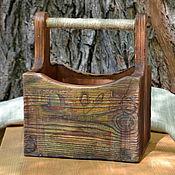 Для дома и интерьера ручной работы. Ярмарка Мастеров - ручная работа Короб брашированный Дедушкин ящик. Handmade.