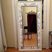 Для дома и интерьера handmade. Livemaster - original item Painted mirrors wildflowers. Handmade.