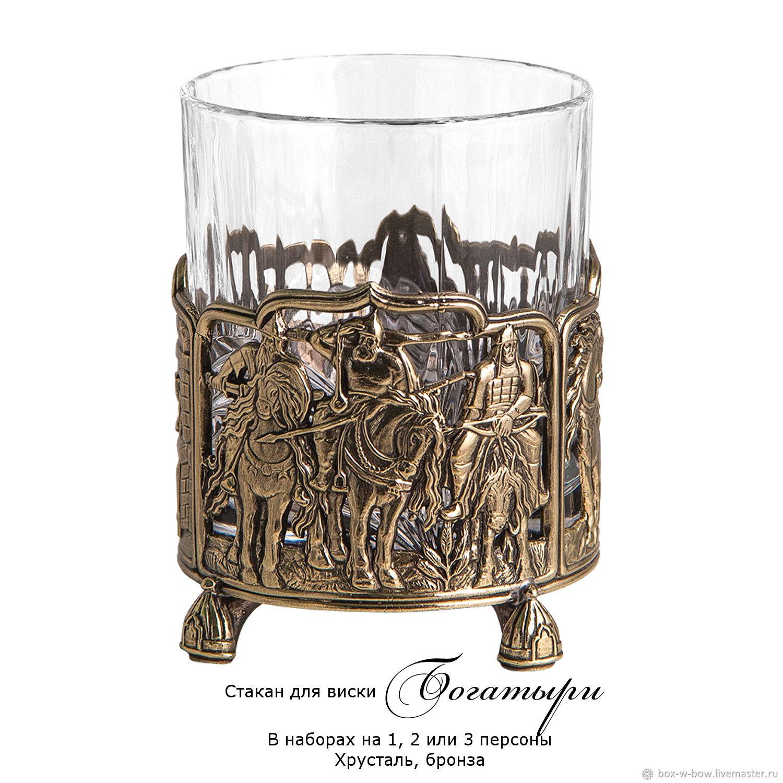 Бокал для виски Богатыри (хрусталь, бронза), Стаканы, Москва,  Фото №1