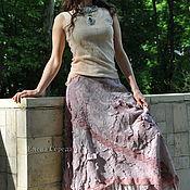 """Одежда ручной работы. Ярмарка Мастеров - ручная работа Шелковая, валяная юбка """"Малиновая изморозь"""". Handmade."""