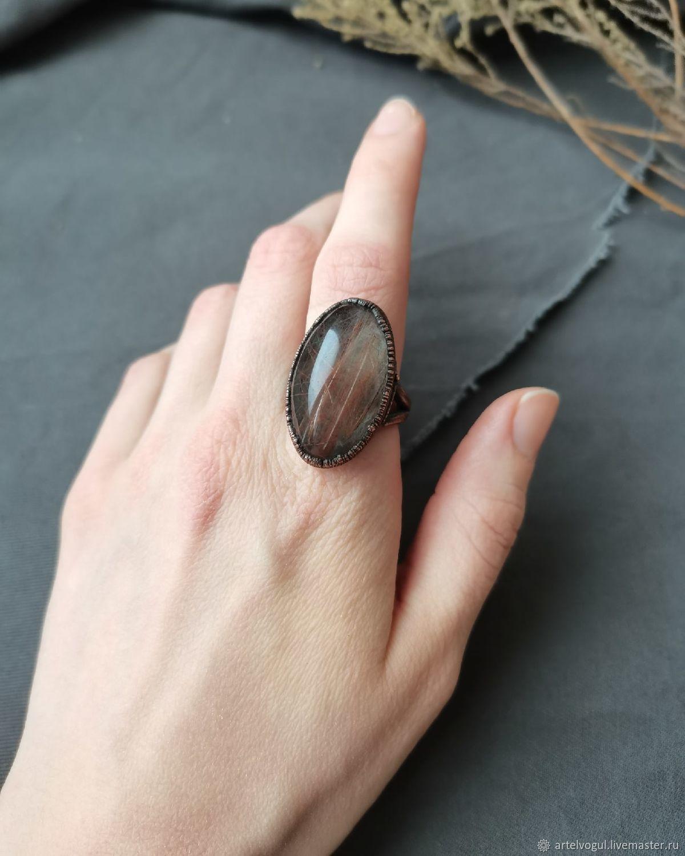 Copper ring with rutile quartz, Rings, Nizhnij Tagil,  Фото №1