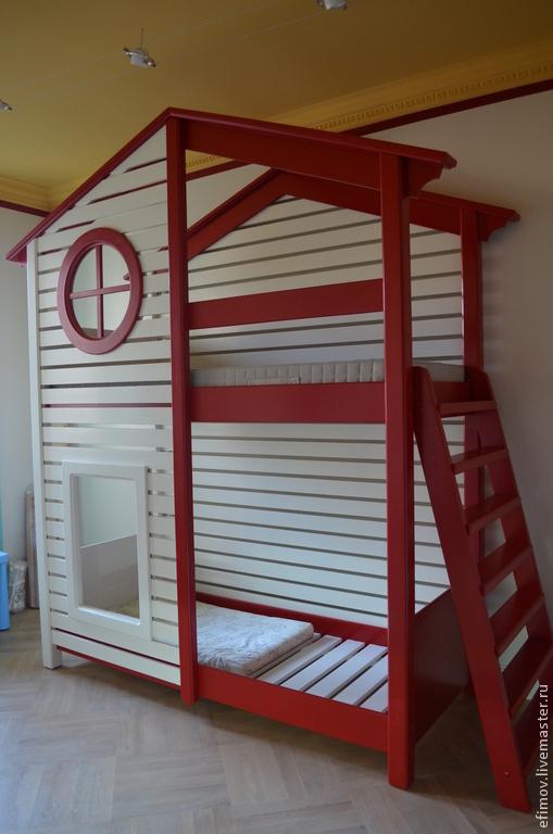 Мебель ручной работы. Ярмарка Мастеров - ручная работа. Купить Кровать Егорка. Handmade. Белый, кровать двухъярусная, мебель из дерева