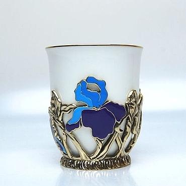 Посуда ручной работы. Ярмарка Мастеров - ручная работа Чашка Ирисы. Handmade.