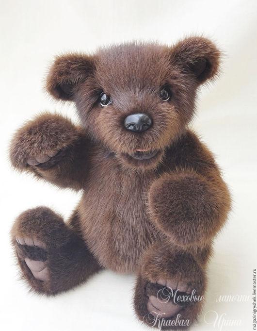 Мишки Тедди ручной работы. Ярмарка Мастеров - ручная работа. Купить Медвежонок Хэнк.Игрушка из натурального меха. Handmade. Коричневый