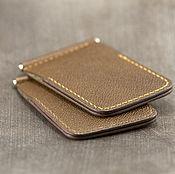 Сумки и аксессуары handmade. Livemaster - original item Wallet with money clip (money clip wallet) leather Horween. Handmade.