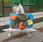 Украшения ручной работы. Ярмарка Мастеров - ручная работа Две хурмы. брошь. Handmade.