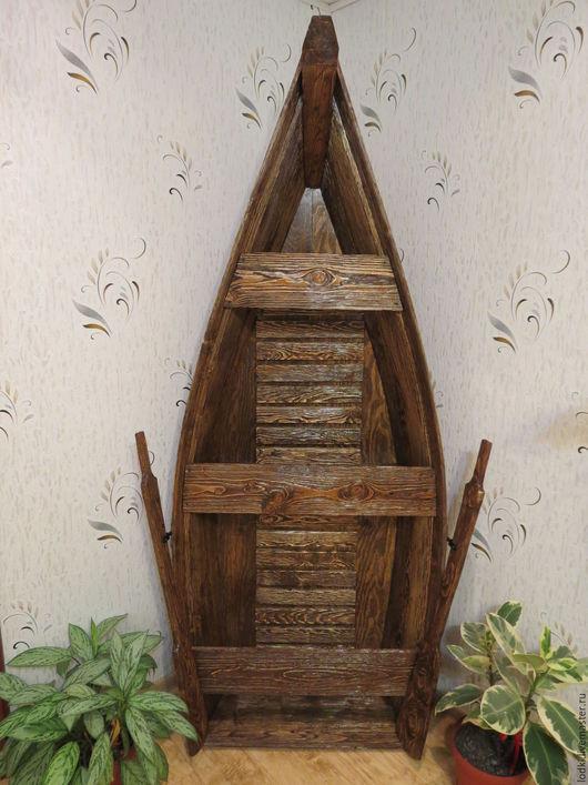 """Мебель ручной работы. Ярмарка Мастеров - ручная работа. Купить Стеллаж  """"Лодка"""". Handmade. Коричневый, стеллаж, мини-бар, массив"""