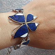 Украшения ручной работы. Ярмарка Мастеров - ручная работа Браслет Синяя бабочка. Handmade.