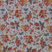 Ткани ручной работы. Ярмарка Мастеров - ручная работа Ткань лен райский сад. Handmade.