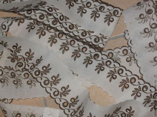 Реставрация. Ярмарка Мастеров - ручная работа. Купить винтажное французское шитьё. цвет белый с коричневым.. Handmade. Хлопок, французское кружево