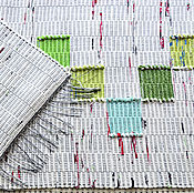 Для дома и интерьера ручной работы. Ярмарка Мастеров - ручная работа Половик ручного ткачества (№ 212). Handmade.