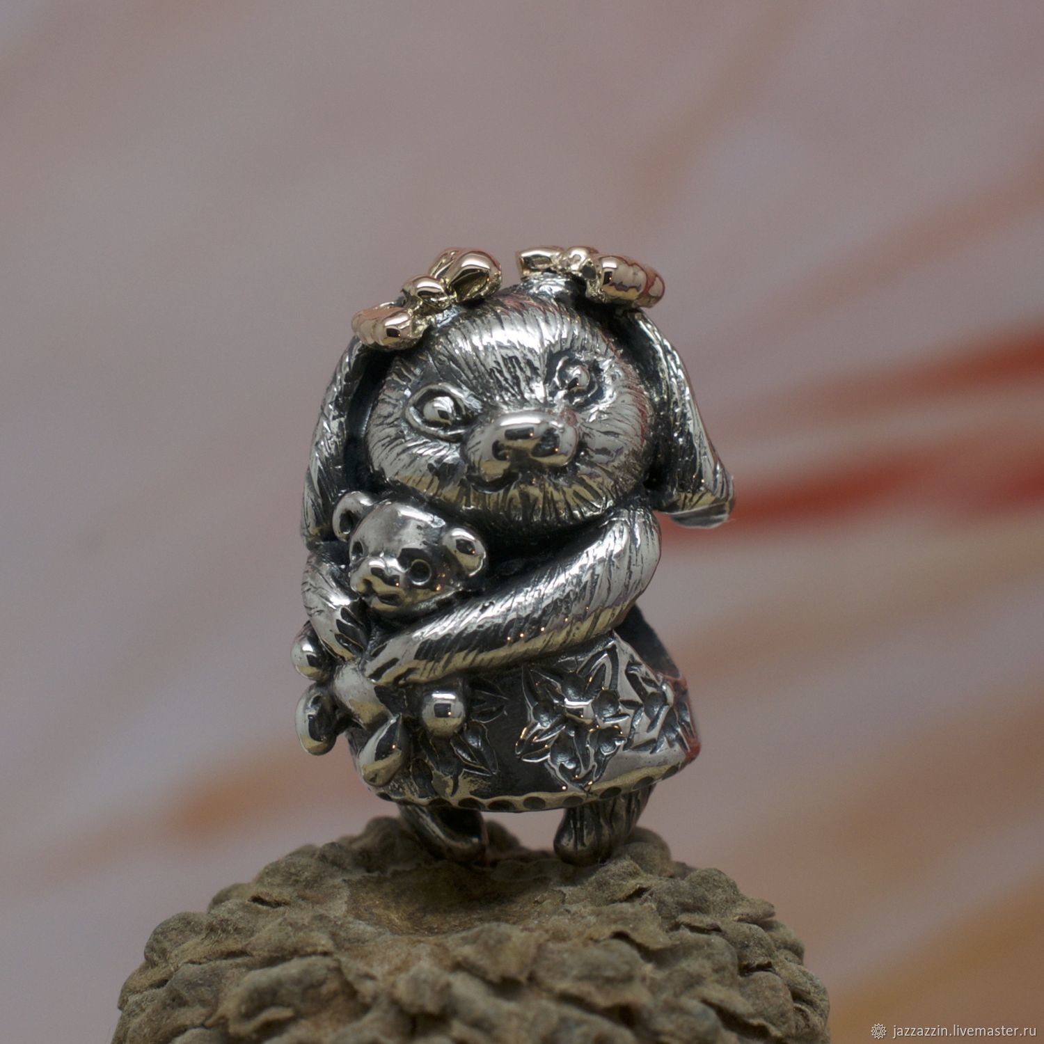 All for Jewelry Making handmade. Livemaster - handmade. Buy Bunny charm.Charm, tiny, sterling silver