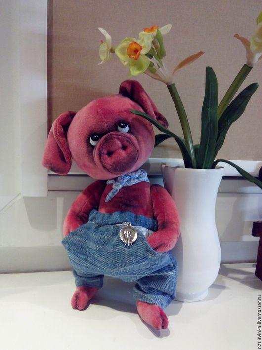 Мишки Тедди ручной работы. Ярмарка Мастеров - ручная работа. Купить Поросенок Хрюндель. Handmade. Бледно-розовый