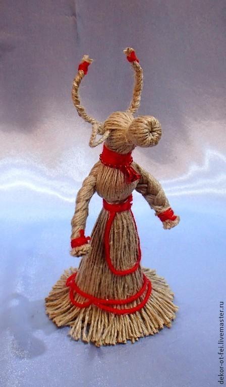 Народные куклы ручной работы. Ярмарка Мастеров - ручная работа. Купить Славянский оберег Корова из льняного шпагата. Handmade. Серый